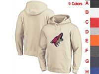 Mens Nhl Arizona Coyotes 9 Colors One Front Pocket Hoodie Jersey