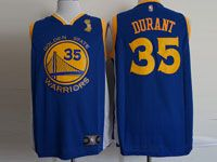 Mens Nba Golden State Warriors #35 Kevin Durant Finals Champions Blue Jersey