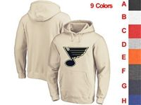 Mens Nhl St.louis Blues 9 Colors One Front Pocket Hoodie Jersey