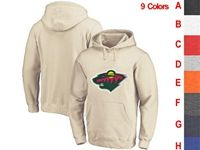 Mens Nhl Minnesota Wild 9 Colors One Front Pocket Hoodie Jersey