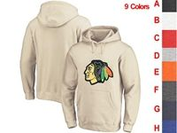 Mens Nhl Chicago Blackhawks 9 Colors One Front Pocket Hoodie Jersey