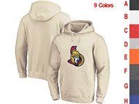 Mens Nhl Ottawa Senators 9 Colors One Front Pocket Hoodie Jersey