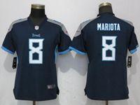 Women Tennessee Titans #8 Marcus Mariota Navy Blue Vapor Untouchable Elite Player Jersey