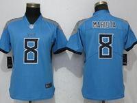 Women Tennessee Titans #8 Marcus Mariota Light Blue Vapor Untouchable Elite Player Jersey