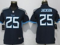 Women Tennessee Titans #25 Adoree' Jackson Navy Blue Vapor Untouchable Elite Player Jersey