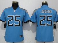 Women Tennessee Titans #25 Adoree' Jackson Light Blue Vapor Untouchable Elite Player Jersey