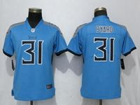 Women Tennessee Titans #31 Kevin Byard Light Blue Vapor Untouchable Elite Player Jersey