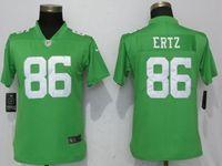 Women Philadelphia Eagles #86 Zach Ertz Light Green Vapor Untouchable Elite Player Jersey
