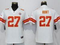 Women Nfl Kansas City Chiefs #27 Kareem Hunt White 2017 Vapor Untouchable Elite Player Jersey