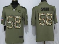 Mens Nfl Chicago Bears #58 Roquan Smith Olive Camo Carson 2017 Salute To Service Limited Jersey