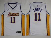 Mens Nba Los Angeles Lakers #11 Brook Lopez Nike Swingman White Jersey