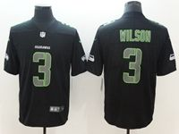 Mens Nfl Seattle Seahawks #3 Russell Wilson Black 2018 Impact Color Rush Limited Jersey