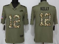 Mens Nfl Buffalo Bills #12 Jim Kelly Olive Camo Carson 2017 Salute To Service Limited Jersey