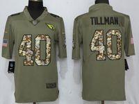 Mens Nfl Arizona Cardinals #40 Pat Tillman Olive Camo Carson 2017 Salute To Service Limited Jersey